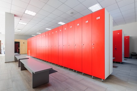 Photo for Interior of gym locker room - Royalty Free Image