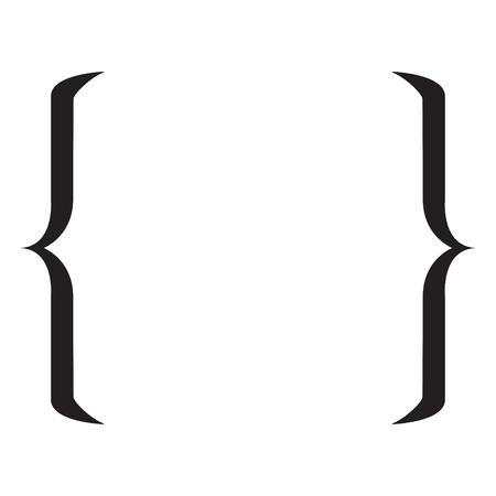 Ilustración de Quote symbol. Bracket icon on a white background. Vector illustration - Imagen libre de derechos