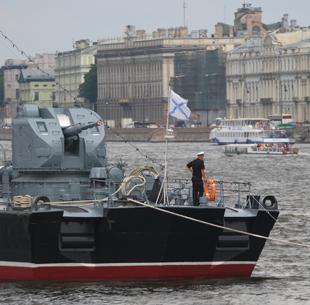 Foto de Dvortsovaya embankment Petersburg Russia, July 2018 - Imagen libre de derechos