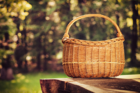 Photo for Empty basket, outdoor - Royalty Free Image
