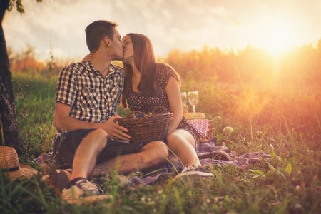 Photo for Attractive couple at countryside - Royalty Free Image