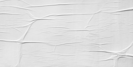 Foto de Blank poster, crumpled paper texture - Imagen libre de derechos