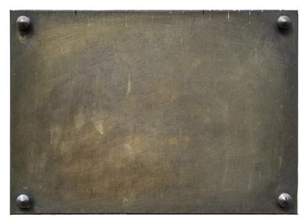 Foto de Bronze blank plaque isolated on white - Imagen libre de derechos
