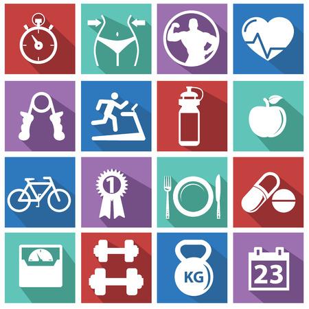 Photo pour Fitness and Health icons - image libre de droit