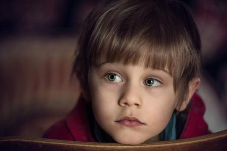 Foto de bored child, close up, portrait - Imagen libre de derechos