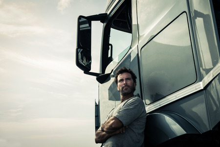 Photo for Portrait of a truck driver - Royalty Free Image