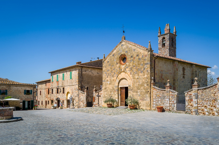 Foto de Monteriggioni central square - Imagen libre de derechos