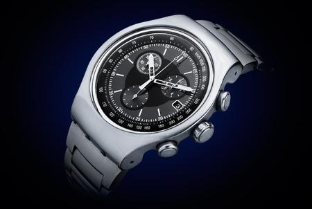 Photo pour Luxury chronograph watch stainless steel - image libre de droit