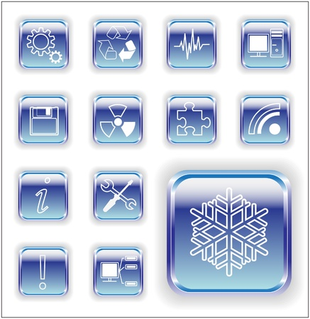 Sheet metal communication  icons   Bright series royalty free stock vector illustration