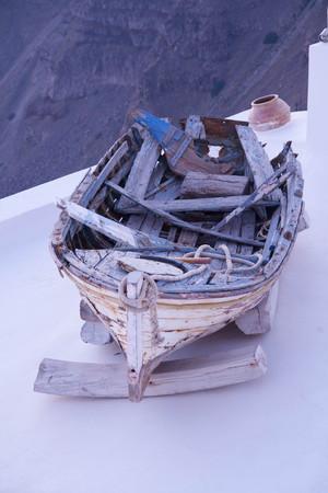 Foto de Old fishing boat rundown, ol clay - Imagen libre de derechos