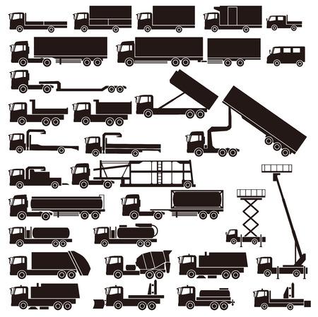Illustrazione per Work trucks - Immagini Royalty Free