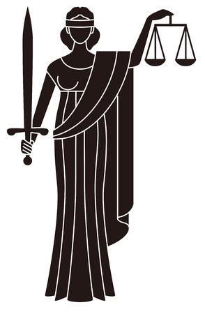 Illustration pour Symbol of justice  Goddess of justice  Themis - image libre de droit