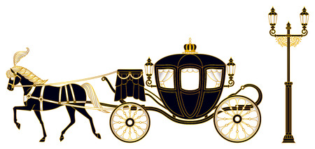 Illustration for Horse-drawn carriage - Royalty Free Image