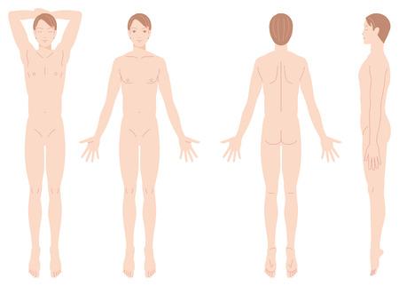 Illustration pour Male body removal of hair  - image libre de droit
