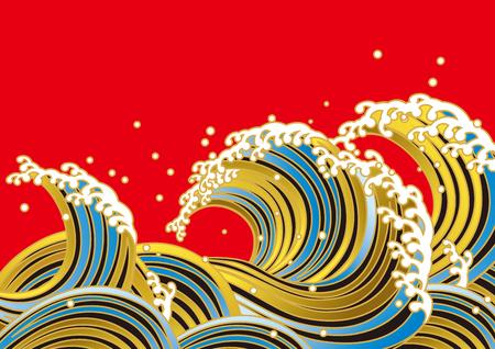Ilustración de wave, Japanese style - Imagen libre de derechos