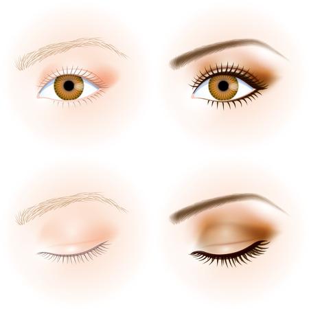Illustration pour eye, makeup - image libre de droit