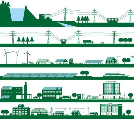 Ilustración de Energy. Power grid - Imagen libre de derechos