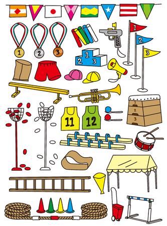 Ilustración de Elementary school sports festival tool - Imagen libre de derechos