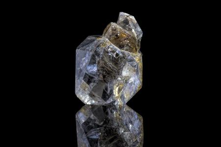 Foto de Sample of a beautiful natural raw Herkimer Diamond specimen over black background - Imagen libre de derechos