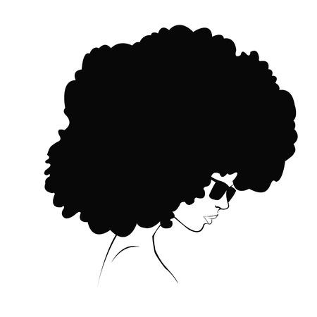 Ilustración de profile silhouette of girl - Imagen libre de derechos