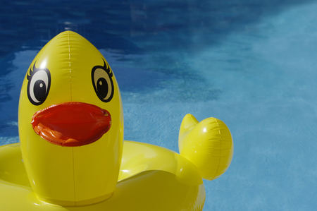 Photo for Large yellow ducky pool toy - Royalty Free Image