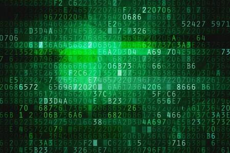 Foto de Cyber space with hexadecimal code as digital background - Imagen libre de derechos