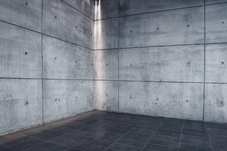 Photo pour Urban Concrete , Modern Empty Interior Space as Backdrop - image libre de droit