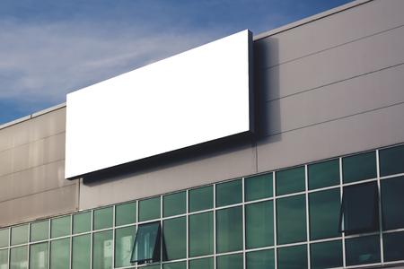 Foto für Blank company advertising billboard as copy space, retro toned image - Lizenzfreies Bild