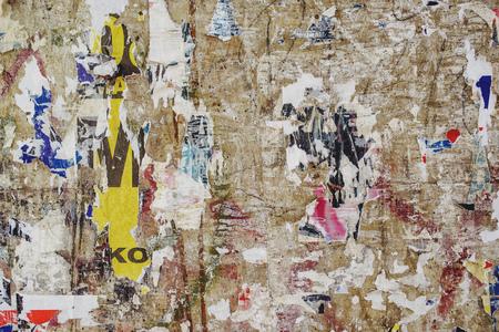 Foto de Torn poster scraps texture, ripped paper background - Imagen libre de derechos
