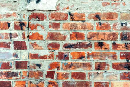 Foto de Bricks as background, old worn brick wall texture - Imagen libre de derechos