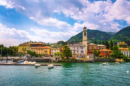 Foto de Cernobbio town in Como lake district. Italian traditional lake village. Italy, Europe. - Imagen libre de derechos