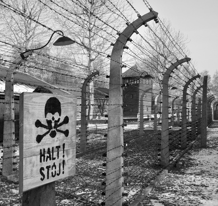 Auschwitz concentration camp, where up to three million people were murdered by the Nazis - 2 5 million gassed, and 500,000 from disease and starvation
