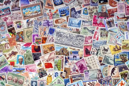Foto de Philately - Worldwide commemorative postage stamps collection. - Imagen libre de derechos