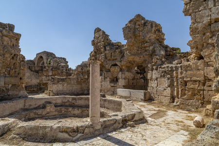 Photo for The ruins of Salamis in the Turkish Republic of Northern Cyprus (TRNC). These Roman ruins date from around 31BC. - Royalty Free Image