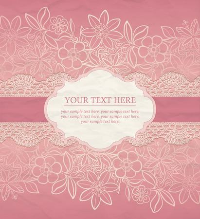 Illustration for Floral Background. Vector greeting card, invitation templat - Royalty Free Image