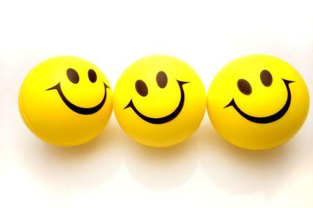 Three smiley faces