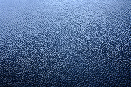 Close-up of blue leather surface