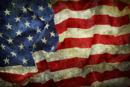 Photo for Closeup of grunge American flag - Royalty Free Image