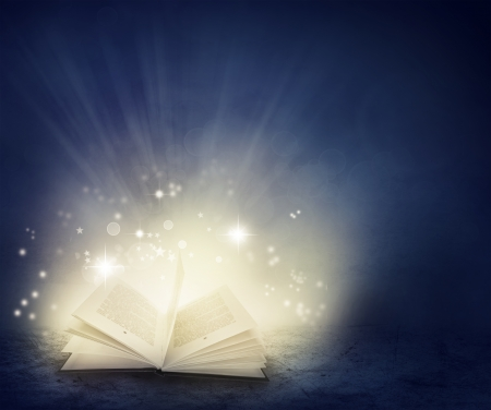 Photo for Open book and magical  - Royalty Free Image