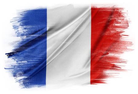 Photo pour French flag on plain background - image libre de droit