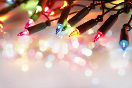 Photo pour Closeup of Christmas lights glowing - image libre de droit