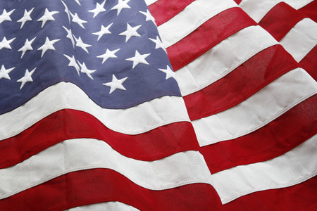 Foto de Closeup of ruffled American flag - Imagen libre de derechos