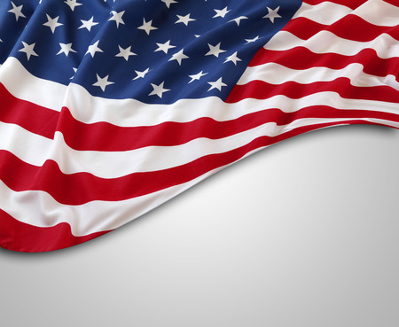 Photo pour American flag on grey background - image libre de droit