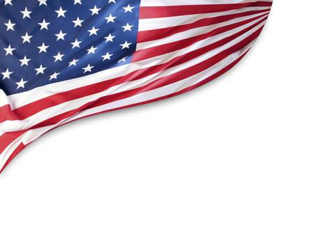 Foto de American flag on plain background, copy space - Imagen libre de derechos