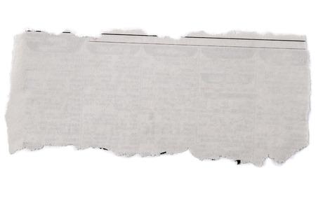 Photo pour Piece of torn paper on plain background - image libre de droit