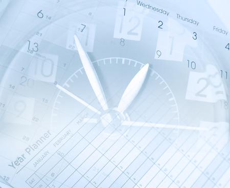 Photo pour Clock face and calendars composite - image libre de droit