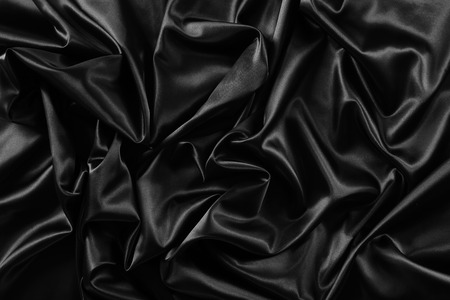 Photo for Closeup of rippled black silk fabric - Royalty Free Image