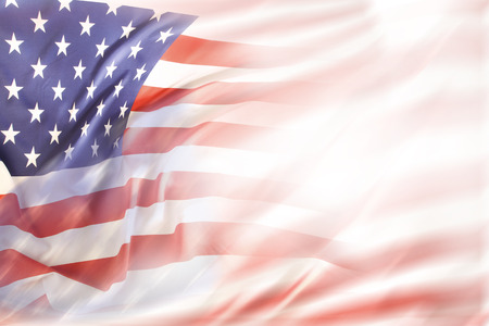 Photo pour Abstract USA flag. Copy space - image libre de droit