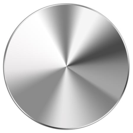 Foto de Shiny stainless steel button on white - Imagen libre de derechos