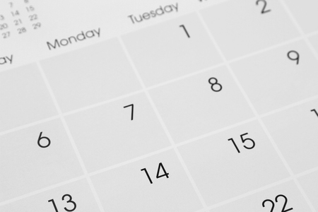Photo for Closeup of numbers on calendar page - Royalty Free Image